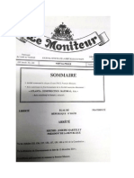 Arrete presidentiel nomimant Evans Paul Premier Ministre