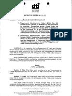 Department Administrative Order No. 13-02