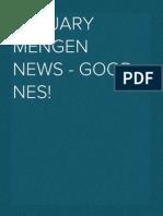 January Mengen News - good news!