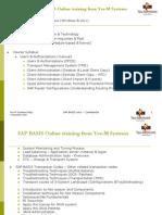 SAP Basis Course Contents