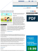 6 Activity Webbsites for Kids - The Times of India