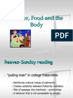 Gender, Food and the Body