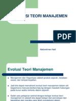 Bab II Evolusi Teori Manajemen 3