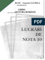 Lucrari de Nota 10 - Lb. Romana
