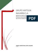Informe de Visita Tecnica Grupo Antolin