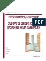 3 Calderas de Condesacion Con Radiadores a Baja Temperatura TRADESA Fenercom 2014