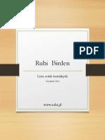 Rubi Birden - Lista Sztuk - Grudzień 2014
