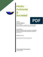 Baigorri _Medio Ambiente y Sociedad_Optativa 2003 - 2004