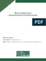 Mesa Seguimiento - Comportamiento de Incendio Forestal