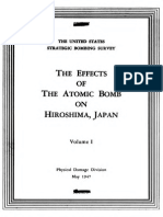 The Effects of the Atomic Bomb on Hiroshima, Japan [the Secret U.S. Strategic Bombing Survey Report 92, Pacific Theatre, Etc...] [1947-71] Part 1