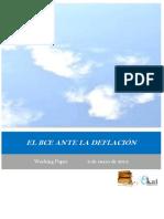 EL BCE ANTE LA DEFLACION
