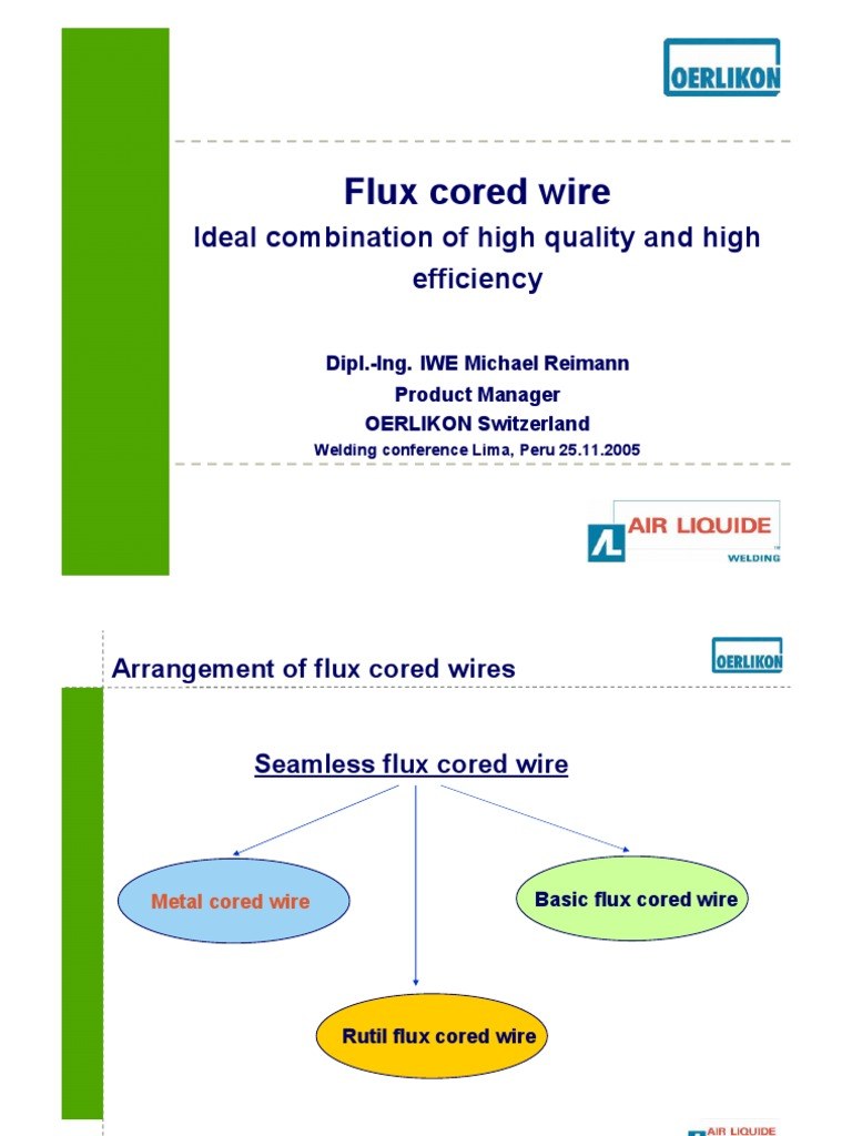 Flux Cored Wire | Welding | Chemistry