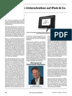 """Fachartikel """"Rechtswirksam unterschreiben auf iPads & Co."""" - Herbst 2012"""