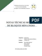 Nota Técnica Mina El Indio (20x20x15)