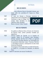 Efemeridsaes Argentina