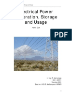 Electrical Power Generation, Storage and Usage