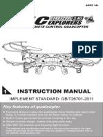 Syma x5c User Manual