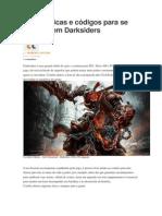 Confira Dicas e Códigos Para Se Dar Bem Em Darksiders