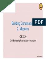 02 Masonry