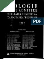 Biologie Teste Admitere Medicina 2012 Bucuresti