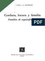 1995 Cordura Locura y Familia Familias de Esquizofrenicos