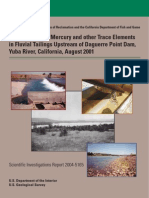 Geochemistry of Mercury and other Trace Elements in Fluvian Tailing Upstream of Daguerre Point Dam, Yuba River, California