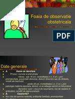 foaia obstetrica