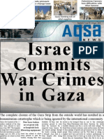 ISRAEL COMMITS WAR CRIMES IN GAZA - Aqsa Newsletter January 2008