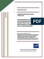 ED SPA 265 - Pengomunikasian Defisiensi Dalam Pengendalian Internal Kepada Pihak Yang Bertanggungjawab Atas Tata Kelola Dan Manajemen