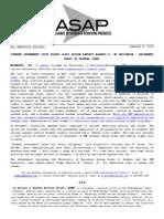 ASAP Press Release 1-8-15