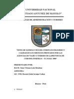 Plan de Tesis Listo la calidad de los servicios turisticos de las A.V.T.