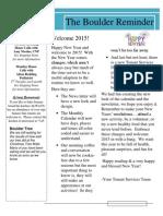Boulder Reminder January 2015