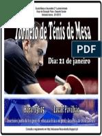 Torneio de Ténis de Mesa -Cartaz