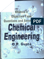 Gupta Chemical Engineering Mcqs