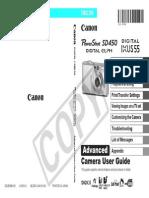 Canon SD450 Powershot Userguide