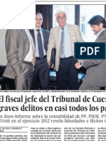 El fiscal jefe del Tribunal de Cuentas ve graves delitos en casi todos los partidos