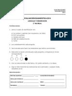 2º Medio Leng. Evaluación Diagnóstica 2014