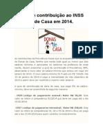 A Guia de Contribuição Ao INSS Da Dona de Casa Em 2014