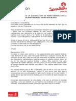 Transcripción de la intervención de Pedro Sánchez ante la interparlamentaria socialista (PDF)