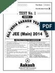 JEE Main 2014_Test 1 (Paper I) Code A