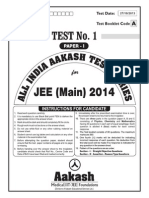 JEE Main 2014_Test 1 (Paper I) Code A