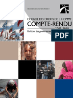 2009-2010 Human Rights Council Report Card (French)