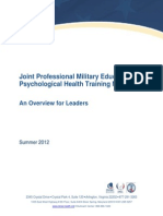Joint Professional Military Education Psychological Health Training Manual