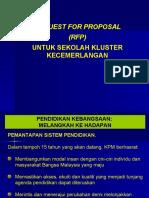 RFP sekolah Kluster KPM
