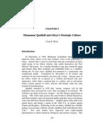 Muammar Qaddafi and Libya's Strategic Culture