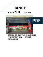Market Research on RELIANCE FRESH and Impact on Other Retailers[1]