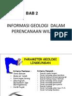 BAB 2. Informasi Geologi Dalam Perencanaan Wilayah