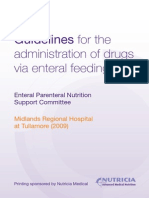 Guidelines for the Adminstration of Drugs via Enteral Feeding Tubes[1]