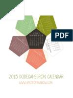 2015 3D Calendar Apieceofrainbowblog