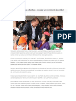 08/01/2015 Exhorta Salomón Rosas a familias a impulsar un movimiento de unidad